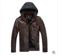 Wholesale Slim new winter fashion urban male taxi velvet warm casual PU leather motorcycle jacket