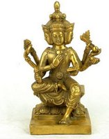 brass statue - Collectible crafts India Brahmanism quot Brahman kings quot Erawan Decoration Guanyin Buddha Thailand Ayutthaya Statue