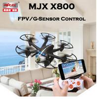 Precio de Helicópteros negros-MJX X800 / X800C 2.4G de 6 ejes RC Drone helicóptero puede agregar C4005 FPV HD Wifi cámara Blanco Negro Syma X5SW X5C fábrica al por mayor