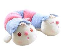 Cheap Free shipping giant stuffed animals 145cm plush cushion caterpillar long pillow doll cloth sleeping pillow