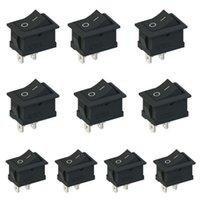 Wholesale 5Pcs Black Snap in On Off Rocker Switch Pin A A V V V AC VE137