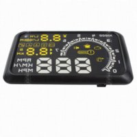 alarm ecu - 5 Inch Car HUD Head Up Display With OBDII Interface With engine speed alarm ECU protocol Reference fuel consumption H04