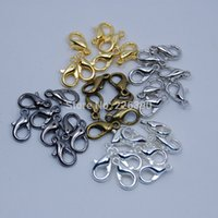 antique ring gun - 100pc mm Gold Silver Rhodium Antique Bronze Gun Black Alloy Lobster Clasp Hooks DIY Jewelry Findings Making Fittings Y719