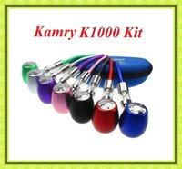 Cheap Kamry K1000 E Pipe Mechanical Mod Kit K1000 Pipe E Cigarette 18350 900mAh Battery in Zipper Case All Colors VS innokin cool fire