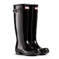 high heel rubber boots - Fashion Wellington Boots High Quality Women Tall Rain Boot Flat Heel Rubber Comfortable Boot Multicolor Colors Boots EMS