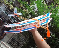 science equipment - Tianchi rubber band powered model airplane model aircraft model aircraft Thunderbird students science competition equipment