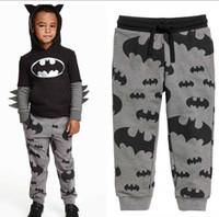 Wholesale Boy Casual Pants Batman Print Cotton Leisure Pants Y A139