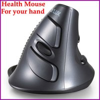 Wholesale 2015Health mouse as gift NEW Original Delux wireless vertical mouse cordless mouse G laser upright healthy mices for your handZ00239