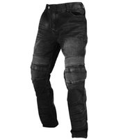 Wholesale DUHAN Men s Motocross Off Road Racing Sports Jeans Casual Pants Motorcycle Windproof Riding Trousers with Knee Protector Guards