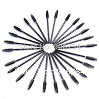 Wholesale 100pcs Disposable Eyelash Black Mascara Wand Applicator Brush