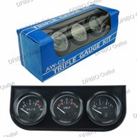 Wholesale Volt meter oil temp gauge Oil Pressure MM In Gauge Kit car meter auto Gauge Triple tachometer