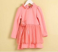 Wholesale Children s Winter Dresses Girl s Lace Dress Baby girl velvet Flower Dress Korean Style Dresses Kids Clothing WD1498