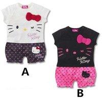baby boy one piece hello - Baby Romper Cartoon Cotton Dot Babies Clothing Summer Short Sleeve Baby One Piece Lovely Hello Kitty Clothes