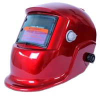 Wholesale Auto Darkening Solar Welders Welding Helmet Mask With Grinding Function Red
