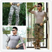 airsoft tactical pants - Outdoors Sports US clothes frog Airsoft army military uniform Navy seals combat suit men tactical jacket or pants protective