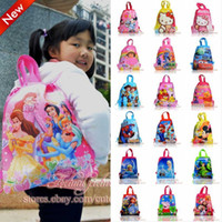 Backpacks backpacks favor bag - Cartoon Logo Children Drawstring Backpack School Bags with Handle Kids Handbags cm Non Woven Fabric Party Favor