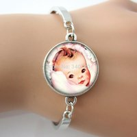 baby photo art - bracelet bangle piece Baby Boy Girl Art Photo Glass Cabochon Dome Gem Jewelry Metal Charm High Quality