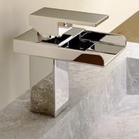 Wholesale US Fast Shipping LightInTheBox Single Handle Waterfall Bathroom Vanity Sink Faucet Chrome order lt no track