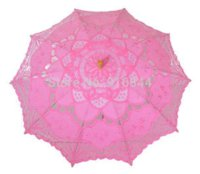 Wholesale 2015 New Wedding Umbrella Lace Parasol quot Cm Pink Color Wedding Umbrella Decoration S254