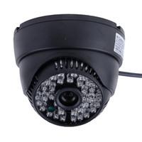 Wholesale 2014 Hot Sale TVL CMOS Color IR CUT Cctv Security Camera Video Dome Home Indoor Black B16 SV003373