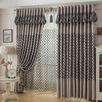 Wholesale curtains for the bedroom blinds home decor bedroom window curtain blind fabric roses embroidered curtains m
