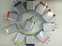 Wholesale 100pcs High Quality V A Double AC Travel USB Wall Charger for iPhone Samsung Galaxy HTC Cell Phones Adapter