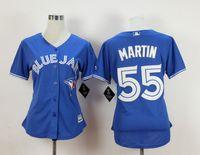 Wholesale Women Baseball Jerseys Toronto Blue Jays MARTIN Blue