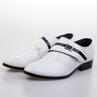 Wholesale Cheap Groom Wedding Shoes Man Breathe freely Leather Shoes Business Dress Shoe Single shoes DY White