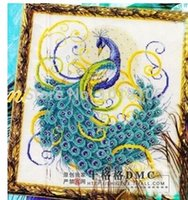 Cheap Beautiful Peacock Cross Stitch Embroidery Crafts Home Decoration Needlework Decoration Items for Gifts