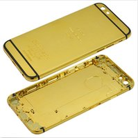 24kt gold - New K Gold Plating Back Housing Cover Skin Battery Door For iPhone inch Luxury Limited Edition Kt iphone6 Bezel Frame Faceplates