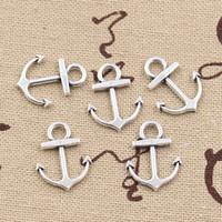 Wholesale 200pcs Charms anchor mm Antique Zinc alloy pendant fit Vintage Tibetan Silver DIY for bracelet necklace