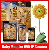 Wholesale Baby Monitor Wifi IP Camera DVR Night Vision Mic For IOS System Andriod Smartphone