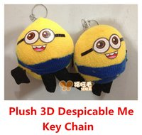 Wholesale New Fashion Plush D Despicable Me Minion Action Figure Keychain Keyring Key Ring Pendant Cute Promotion Gifts Hot Sale