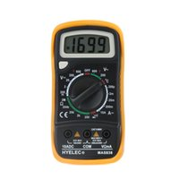 Wholesale Professional Digital LCD Display Multifunction Mini Multimeter Temperature Test Multimetro LCR Meter HYELEC MAS838 order lt no track