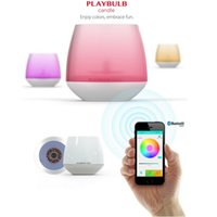 Wholesale PLAYBULB Electric Candle LED Flameless RGB scented Romantic Tea light Flashlight Colored Glitter battery operated Candles Holder