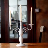 Wholesale High Quality arms Iron metal Candelabra Wedding Home Decoration Candle Holders Candlestick black white