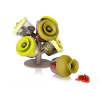 Wholesale Pop up spice rack spice popper shakers Spice Tools set Special tree design green