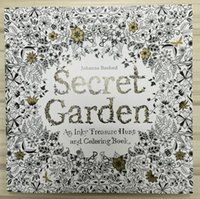 Wholesale Free DHL Secret Garden English Edition Coloring Book For Children Adult Relieve Stress Kill Time Graffiti Painting Drawing Book