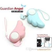 Wholesale Personal Safety Attack Alarms Panic Protect Anti Wolf Angel Wings Keychain dB Sound Frequency Can Ring Last Half An Hours z00541