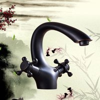 Cheap Classic Black Oil Rubbed Deck Mounted Bathroom Faucets Waterfall Tap For Kitchen Basin Faucet Sink Tap Mixer order<$18no track