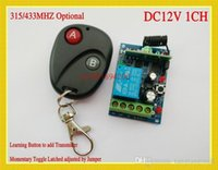 Wholesale Access Door Control System V DC CH Remote Switch Receiver Transmitter MHZ Learning code Latched A ON B OFF LED A5