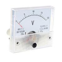 analog panel voltmeter - Hot Sale White DC V C1 V Class Voltmeter Analog Volt Panel Meter
