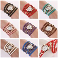 Cheap luxury fashion watches watch wristwatch for Women Lady Wrap Wrist leather Watches Round Dial Charming infinity Bracelets Watches