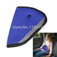 Wholesale High Quality Car Child Safety Cover Shoulder Harness Strap Adjuster Kids Seat Belt Clip Blue