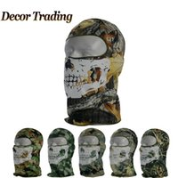 acu hats - Balaclava Outdoor Bicycle Cycling Basketball Ski Hat Headgear Skull Face Mask Hunting ACU Camouflage CS Ghost Tactical Mask WN