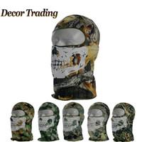 acu balaclava - Balaclava Outdoor Bicycle Cycling Basketball Ski Hat Headgear Skull Face Mask Hunting ACU Camouflage CS Ghost Tactical Mask WN
