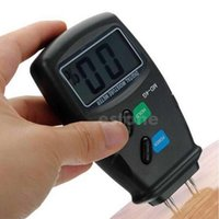 Wholesale Digital Pin LCD Wood Moisture Humidity Meter Damp Detector Tester order lt no track
