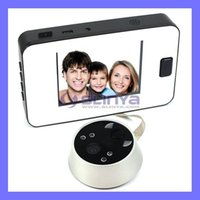 Wholesale 3 quot TFT LCD Screen Door Camera Peephole Viewer IR Night Vision Photo Taking Video Recorder TF Card Slot