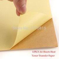 Wholesale New Kraft Sticker Paper Heat Toner Transfer A4 Self Adhesive Brown Printing Copy Label Paper For Laser Inkjet Printer order lt no tra