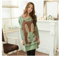 Wholesale The new autumn winter maternity plush shy rabbit loose long bat render unlined upper garment of hair in the big version